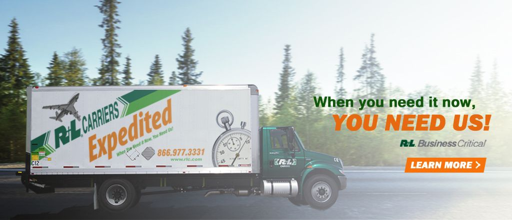 R+L Carriers, Now providing Expedited Service to Canada